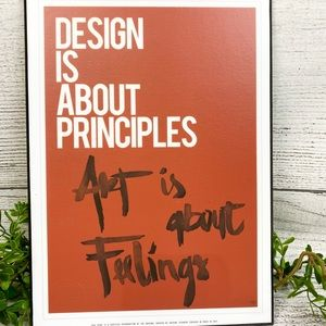 """Wall Decor """"Design is about..."""" Wall Art"""